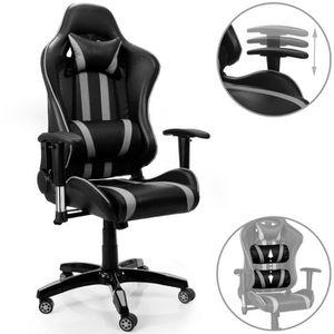 CHAISE DE BUREAU Chaise de bureau fauteuil de bureau noir gris ergo