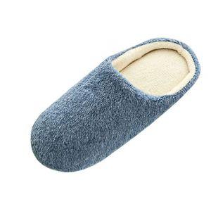 Pantoufles micro doublure en polaire et conception vérifié Microsuede pour Homme Slip On Mules