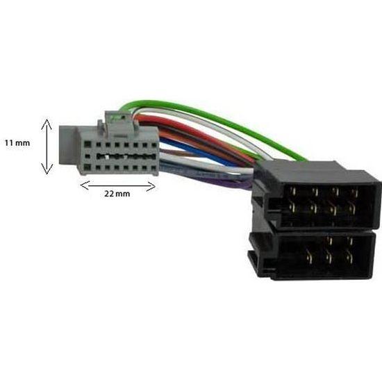 Cable adaptateur ISO autoradio KENWOOD KDC-W3037G KDC-W3041 KDC-W3044A KDC-W3044
