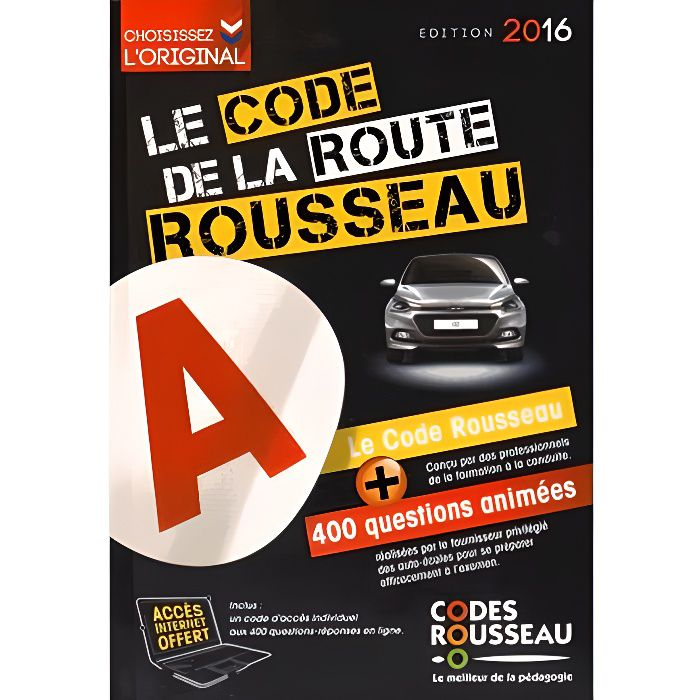 le code de la route rousseau achat vente livre codes rousseau codes rousseau sa parution 16. Black Bedroom Furniture Sets. Home Design Ideas