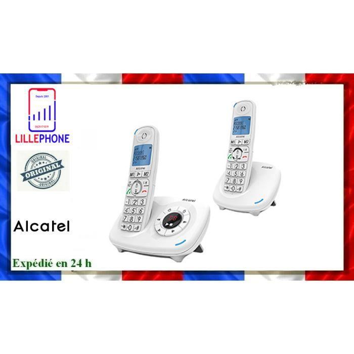 TELEPHONE FIXE ALCATEL XL575 VOICE DUO BLANC NEUF ORIGINAL FRANCE