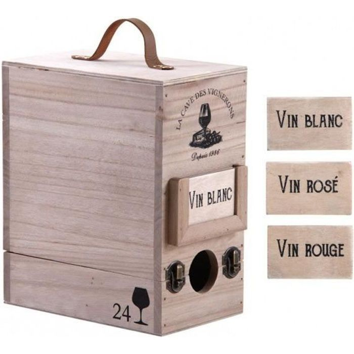 Boite à cubi 3 litres en bois