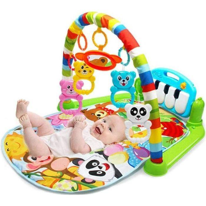 LUXS Tapis Musical d'Éveil pour Bébé , Tapis de Jeu avec Arches de Jeu , 4 Touches de Piano