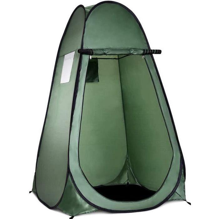 Tente de Douche 120 x 120 x 190 CM Pliable pour Camping Imperméable Instantanée Pop-Up Tente de Toilette Portable à l'Extérieur Vert