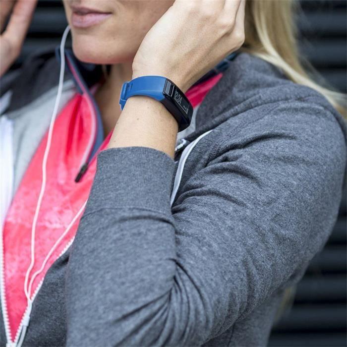bracelet de montre vendu seul Nouveau bracelet en silicone souple de remplacement pour Garmin Vivosmart HR LIY70922002BU_wat