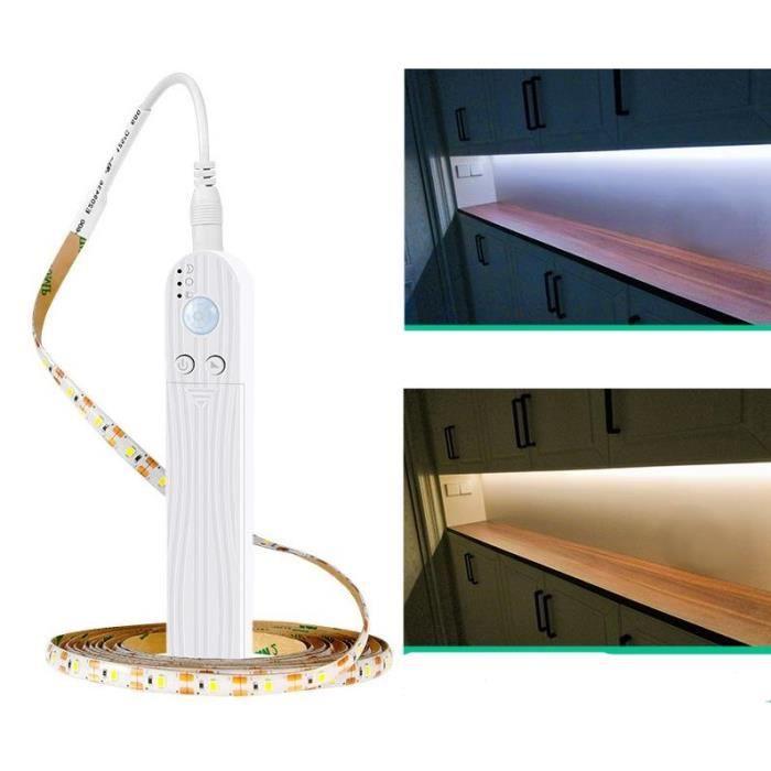 Barre lumineuse intelligente du corps humain 5V, batterie LED, barre lumineuse du capteur USB 3 mètres / lumière jaune