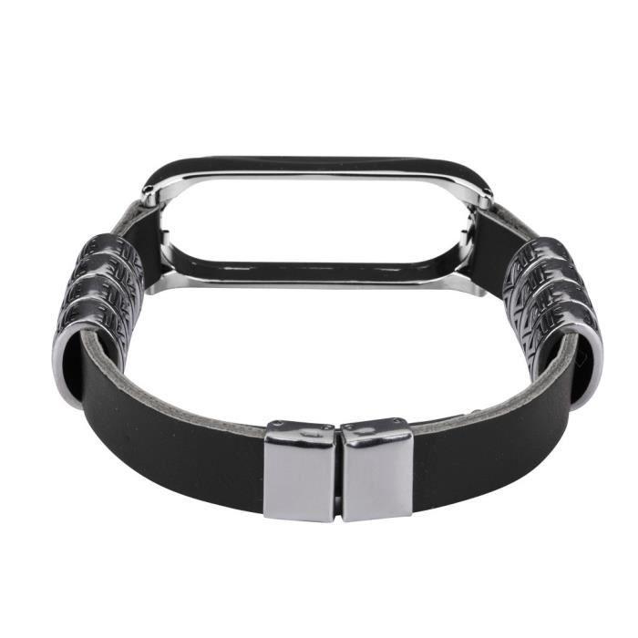 bracelet de montre vendu seul Pour Xiaomi Mi Band 4 Business Bracelet en cuir léger pour montre-bracelet intelligent