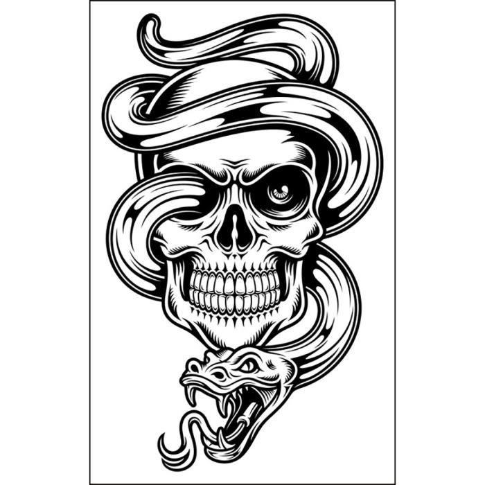 Halloween Tattoo protection de l'environnement Pâte non à l'toxic imperméable d'eau WLL80929016