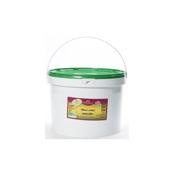 Belle nature Olives vertes naturelles seau 5kg