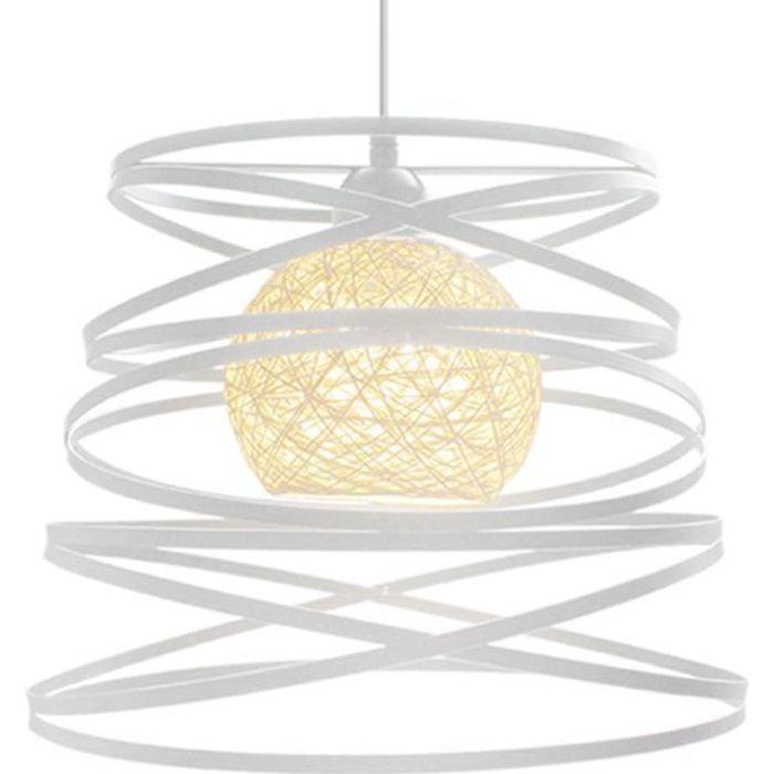 Yote 2x Industriel Suspension Luminaire Moderne Lustre Lampe en Métal pour Salon Chambre
