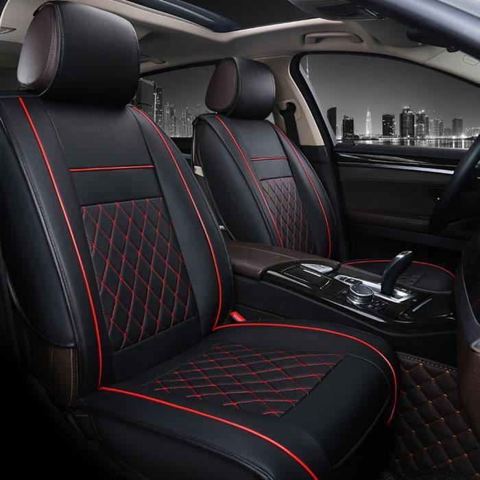 Housse de siège en cuir PU respirant ~Black red MC1901