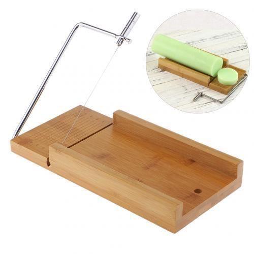 Accessoires de cuisine,Outils de coupe de savon en bois également pour gâteau bougie chocolat nourriture coupe pain - Type Marron #A