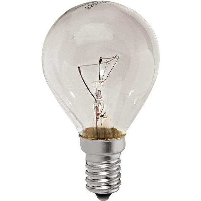 Ampoule 40w e14 pour Refrigerateur Bosch, Four A.e.g, Four Bauknecht, Micro-ondes Faure, Hotte Rosieres, Four Viva, Four Thermor,
