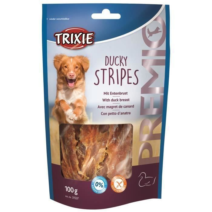 TRIXIE Ducky Stripes Premio - Pour chien -3 x 100 g