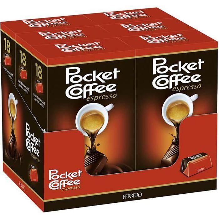 Ferrero Pocket Coffee Espresso Pralines Chocolat 6 x 225g