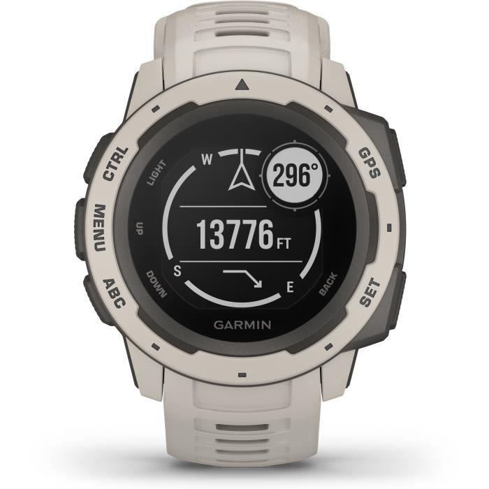 Garmin Instinct Montre GPS multi-fonctions, résistante et endurante, intégrant tous les outils dédiés à l'aventure 010-02064-01