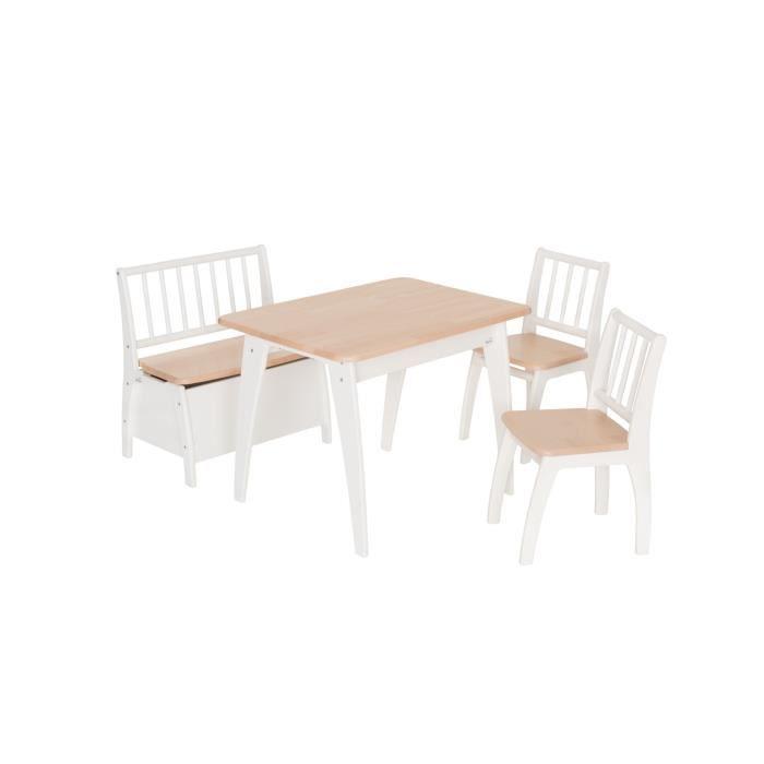 Ensemble de sièges pour enfants Bambino Weiß-Natur