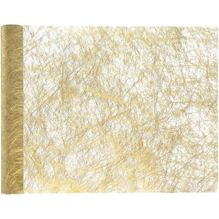 Chemin de table de Noël doré métallisé chic 30cm x 25m (x1) R/4755