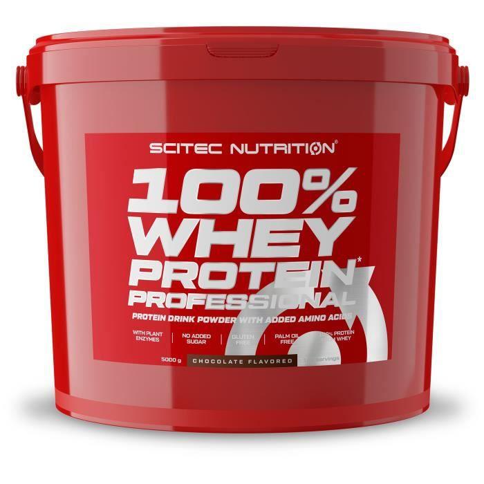 100% Whey Professional 5kg CHOCOLAT Scitec 5000g