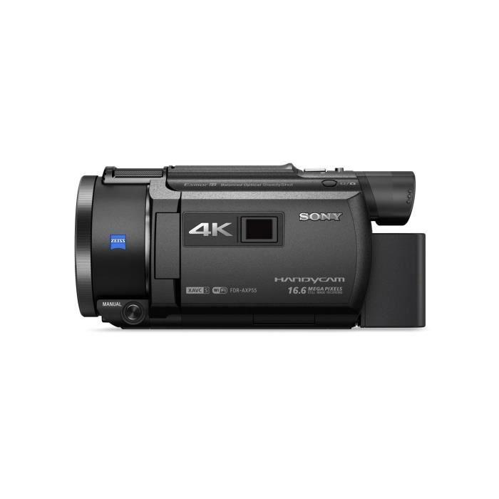Sony FDR-AXP55, CMOS, 25,4 - 2,5 mm (1 - 2.5-), 6,22 MP, 8,29 MP, 20x, 250x
