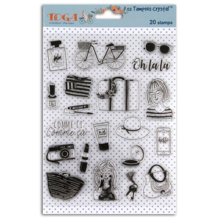20 Tampons transparents 'Toga - Oh La La'