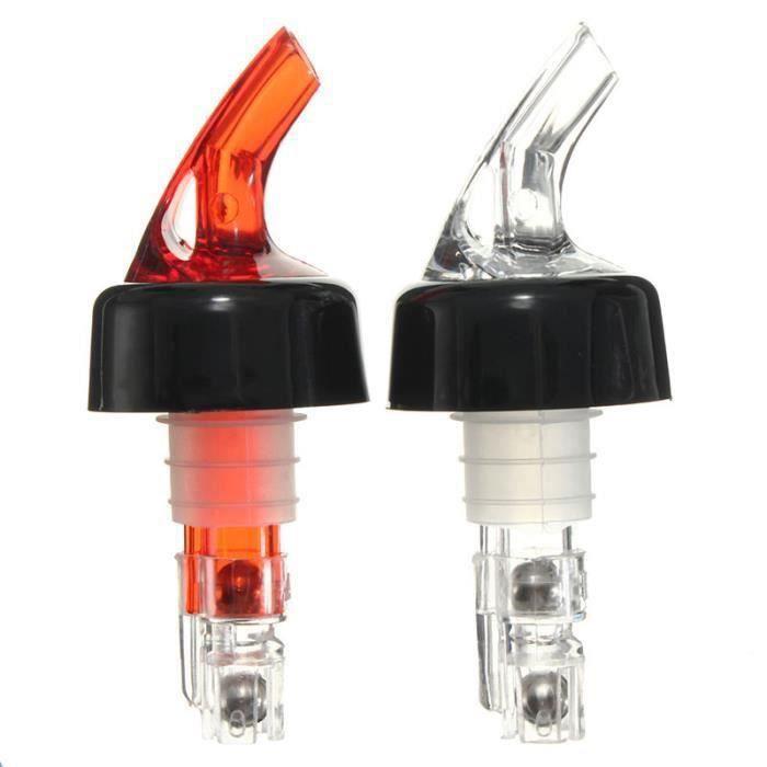HK01677-Bouteille en plastique Verseur 50 ml Boisson de mesure Distributeur de liqueur de vin rouge Shot Red-CY
