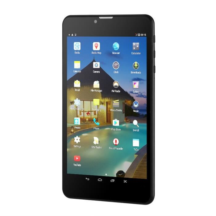 TABLETTE TACTILE 3 g Android Tablet-Dual-IMEI, 7 pouces, HD Display