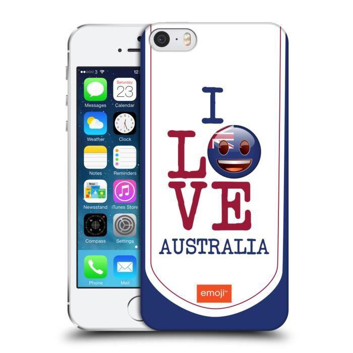 COQUE - BUMPER Officiel emoji® L'Australie J'Aime Mon Pays Coque