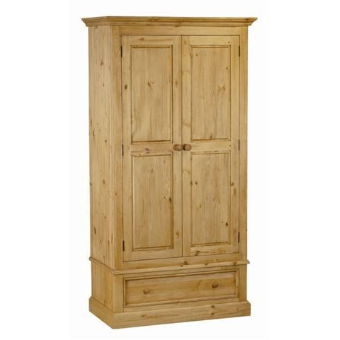 armoire en pin 2 portes 1 tiroir achat vente armoire. Black Bedroom Furniture Sets. Home Design Ideas