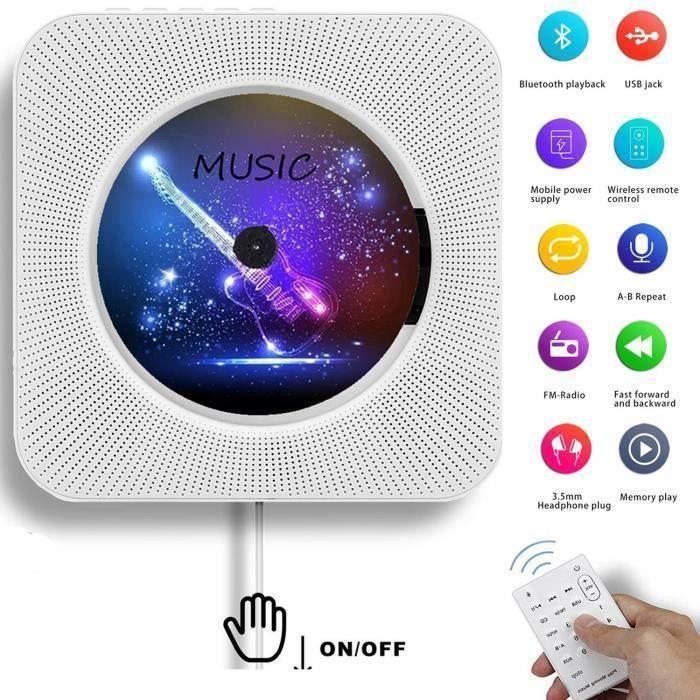 BALADEUR CD - CASSETTE Lecteur CD Portable, Lecteur CD Bluetooth Mural Ha