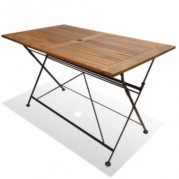 Table pliante bois Table exterieur pliante F1lJKc