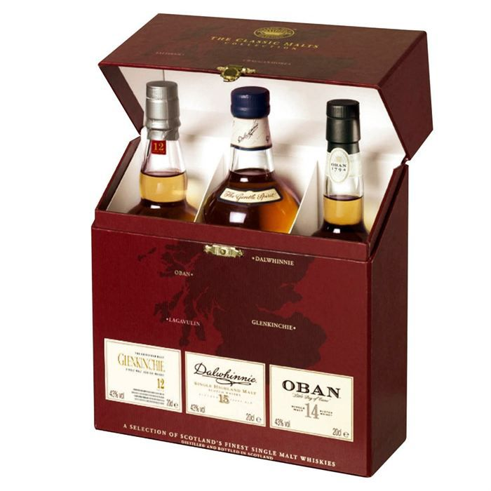 coffret whisky classic malts red rouge achat vente coffret classic malts rouge cdiscount. Black Bedroom Furniture Sets. Home Design Ideas