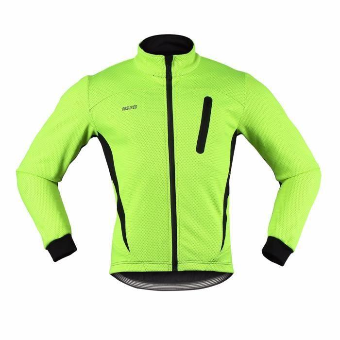 Cyclistes En Veste Hiver Jersey Hommes Molleton Sports Cours Thermique Vtt Chaud Manteau D'exécution ZkOTPuXi