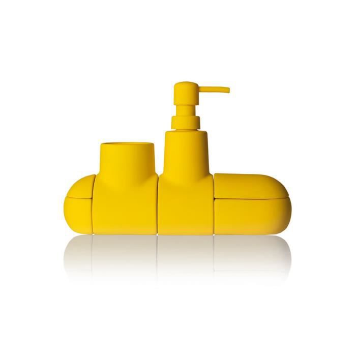 set accessoires seletti salle de bain kit sous marin jaune. Black Bedroom Furniture Sets. Home Design Ideas