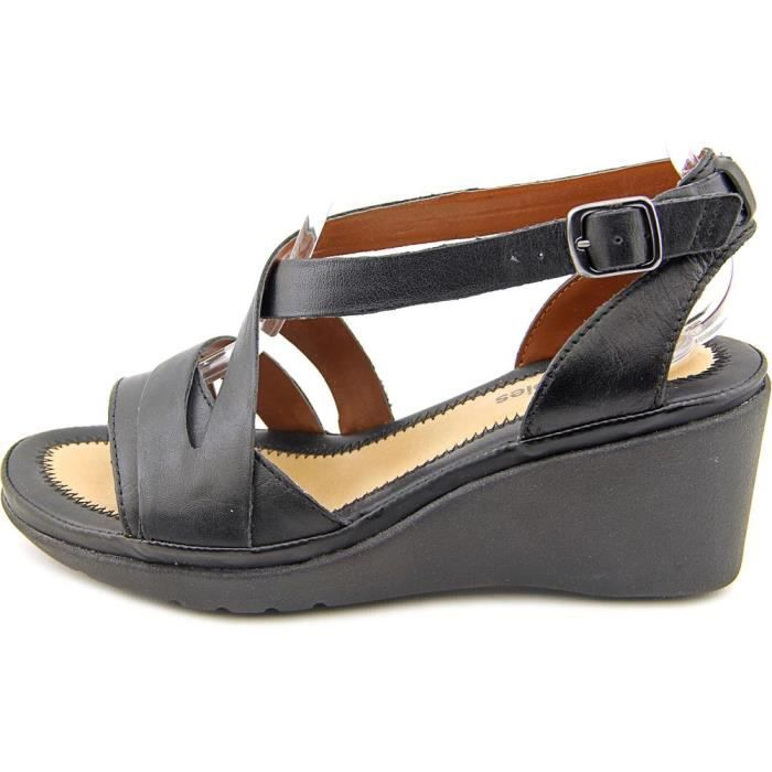 Hush Puppies rory russo Cuir Sandales Compensés