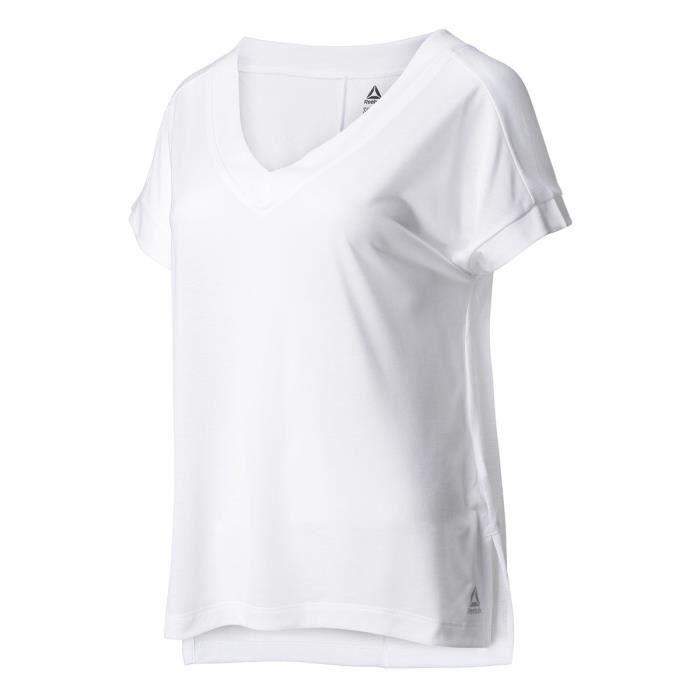REEBOK Tee-Shirt - Femme - Blanc