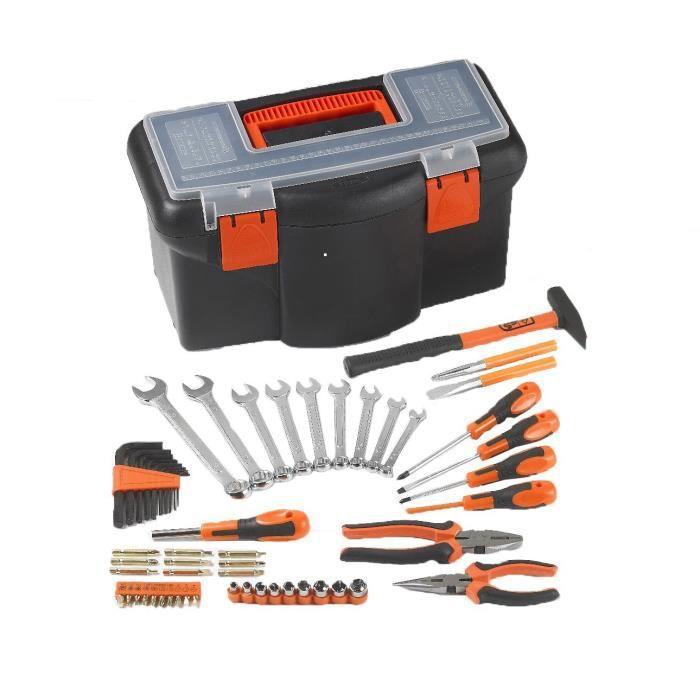 TOOD Boite à outils 16- 42 cm avec 57 accessoires