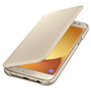 HOUSSE - ÉTUI Samsung Etui Flip Wallet J5 2017 - Or