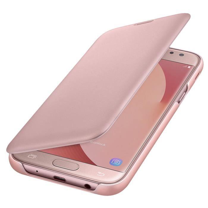 HOUSSE - ÉTUI Samsung Etui Flip Wallet J5 2017 - Rose