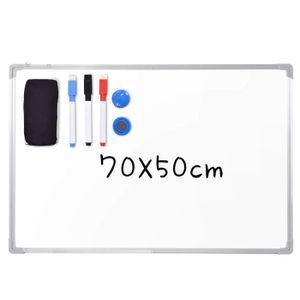 TABLEAU - PAPERBOARD Tableau Magnétique, Tableau Blanc avec Cadre en Al