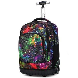 Backpack Sac /à Dos /à roulettes sur roulettes pour Adultes Et Livres Universitaires 55 litres 19,7 Pouces,A09