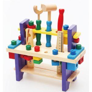 TABLE JOUET D'ACTIVITÉ Jeu d'imitation - Boîte à Outils en bois Etabli à