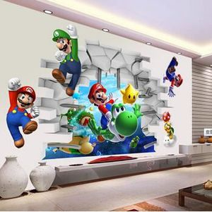 STICKERS 3d bande dessinée Art Stickers muraux Super Mario