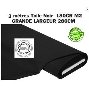 TISSU 3 Métres Tissu NOIR GRANDE LARGEUR 280cm PHOTO DEC