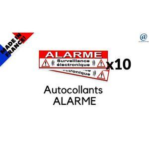 """Lot de 10 autocollants pour alarme /"""" PROPRIETE PRIVEE /"""" Pour portes 60//20mm"""