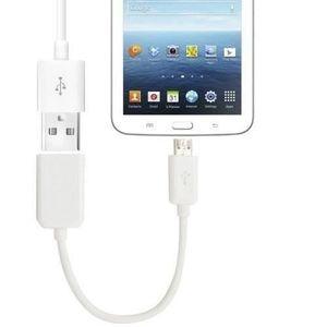 CÂBLE INFORMATIQUE Cable USB HOST - OTG Adaptateur Samsung  Blanc
