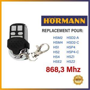 TÉLÉCOMMANDE DOMOTIQUE  Télécommande compatible - Hörmann HSM2 / HSM4 / HS