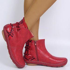 Rétro Femmes Bottines en cuir synthétique Steampunk Lacets Fermeture Éclair Talon Bobine Chaussures Hot