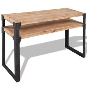 CONSOLE EXTENSIBLE Table console Bois d'acacia massif Meuble de sejou