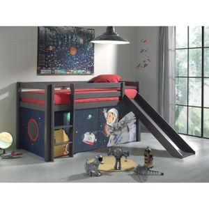LIT MEZZANINE PINO Lit enfant mezzanine toboggan 90x200 SPACE -